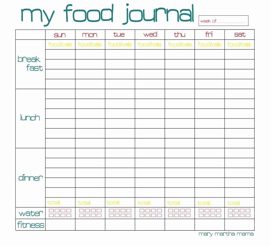 Free Printable Food Journal Beautiful Free Food Journal Printable Healthy Mama Week 29 – Mary