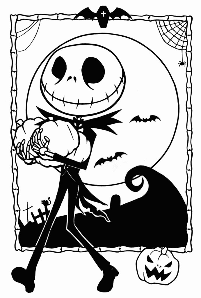 Free Printable Halloween Pictures Awesome Free Printable Nightmare before Christmas Coloring Pages