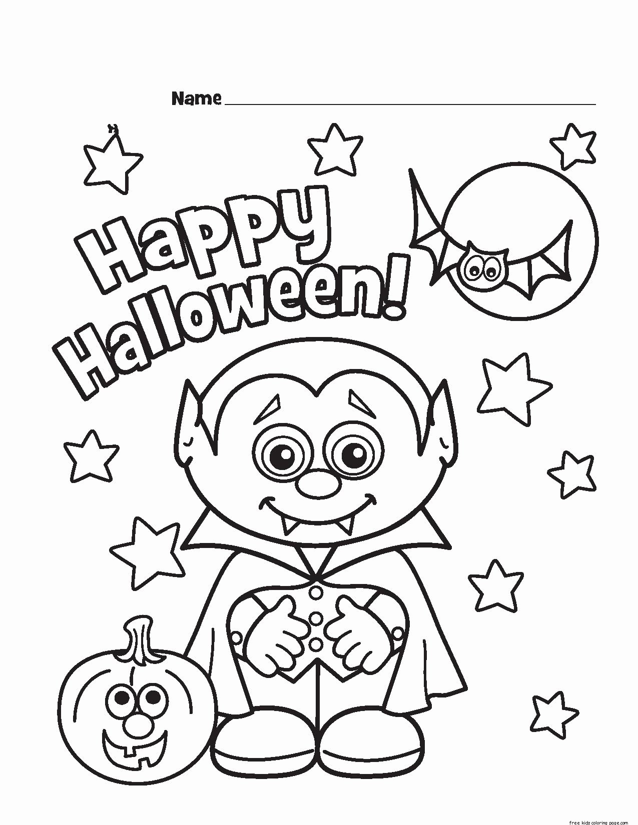Free Printable Halloween Pictures Lovely Halloween Little Vampire Printable Coloring Pages for