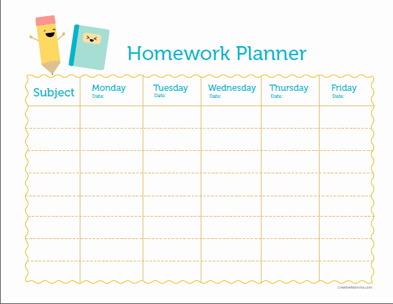 Free Printable Homework Planner Awesome St John S Primary School Ptfa Times Weekly Planner