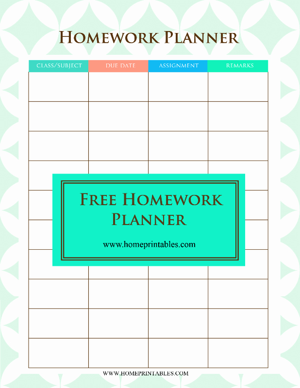 Free Printable Homework Planner Fresh A Free Printable Homework Planner It S Pretty Home