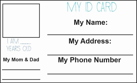 Free Printable Id Cards Awesome Items Similar to Child Id Card Printable On Etsy