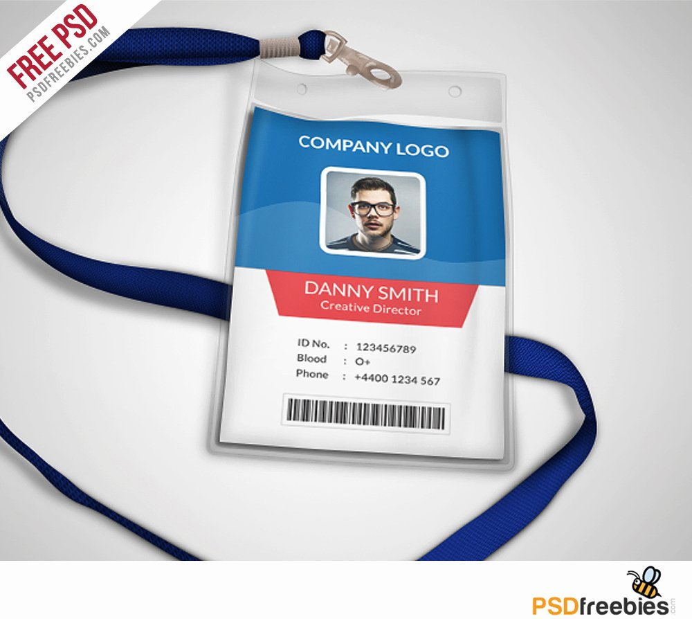 Free Printable Id Cards Beautiful Multipurpose Pany Id Card Free Psd Template
