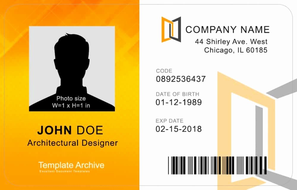 Free Printable Id Cards Elegant 16 Id Badge & Id Card Templates Free Template Archive