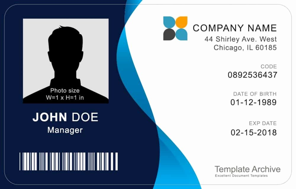 Free Printable Id Cards Lovely 16 Id Badge & Id Card Templates Free Template Archive