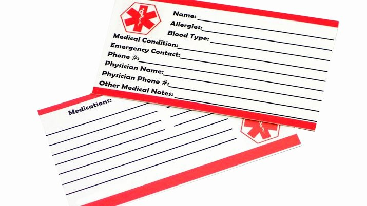 Free Printable Id Cards Luxury Free Printable Medical Id Wallet Cards