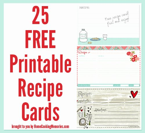 Free Printable Index Cards Best Of 25 Free Printable Recipe Cards Home Cooking Memories