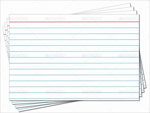 Free Printable Index Cards Elegant Index Card Template