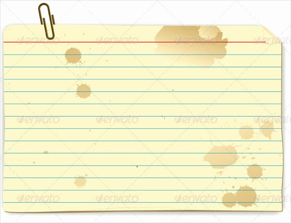 Free Printable Index Cards New 17 Index Card Templates Free Psd Vector Ai Eps format