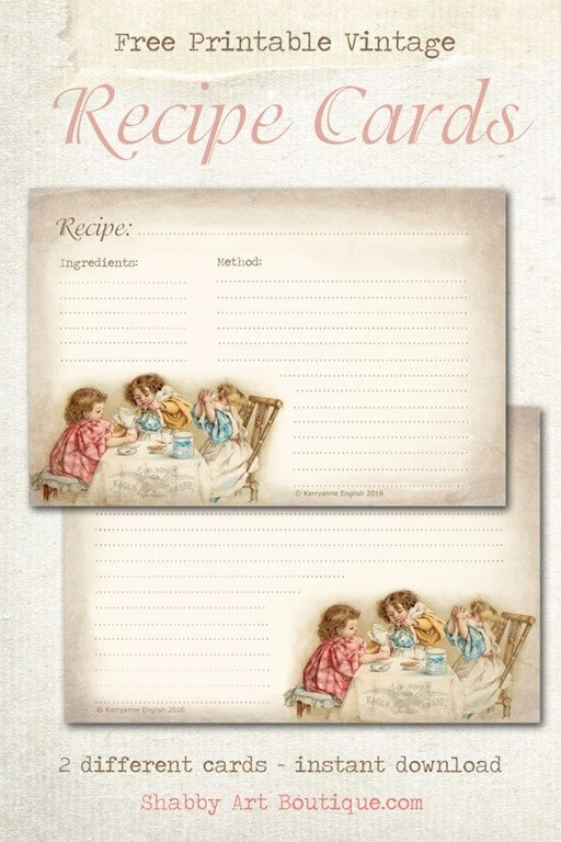 Free Printable Index Cards Unique Free Printable Vintage Recipe Cards Shabby Art Boutique