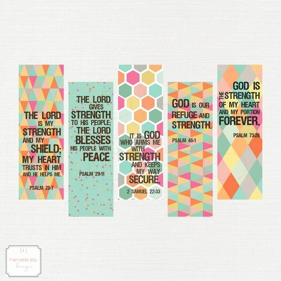 Free Printable Inspirational Bookmarks Awesome Items Similar to Inspirational Printable Bookmarks