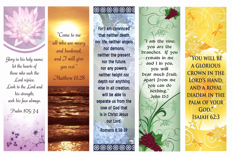 Free Printable Inspirational Bookmarks Elegant Free Printable Bookmarks with Bible Verses