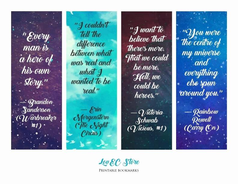 Free Printable Inspirational Bookmarks Inspirational Beautiful Printable Book S Quotes Bookmarks Lake Balboa