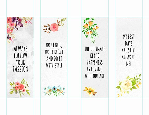Free Printable Inspirational Bookmarks Inspirational Motivational Bookmarks Template Quote Bookmarks Printable
