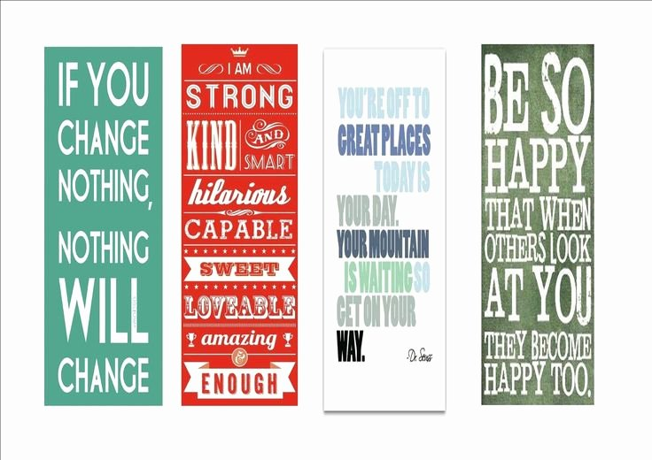 Free Printable Inspirational Bookmarks Lovely Bookmarks with Inspirational Encouraging Quotes I Made