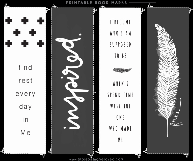 Free Printable Inspirational Bookmarks Lovely Inspirational Bookmarks to Print nordic Simple Christian