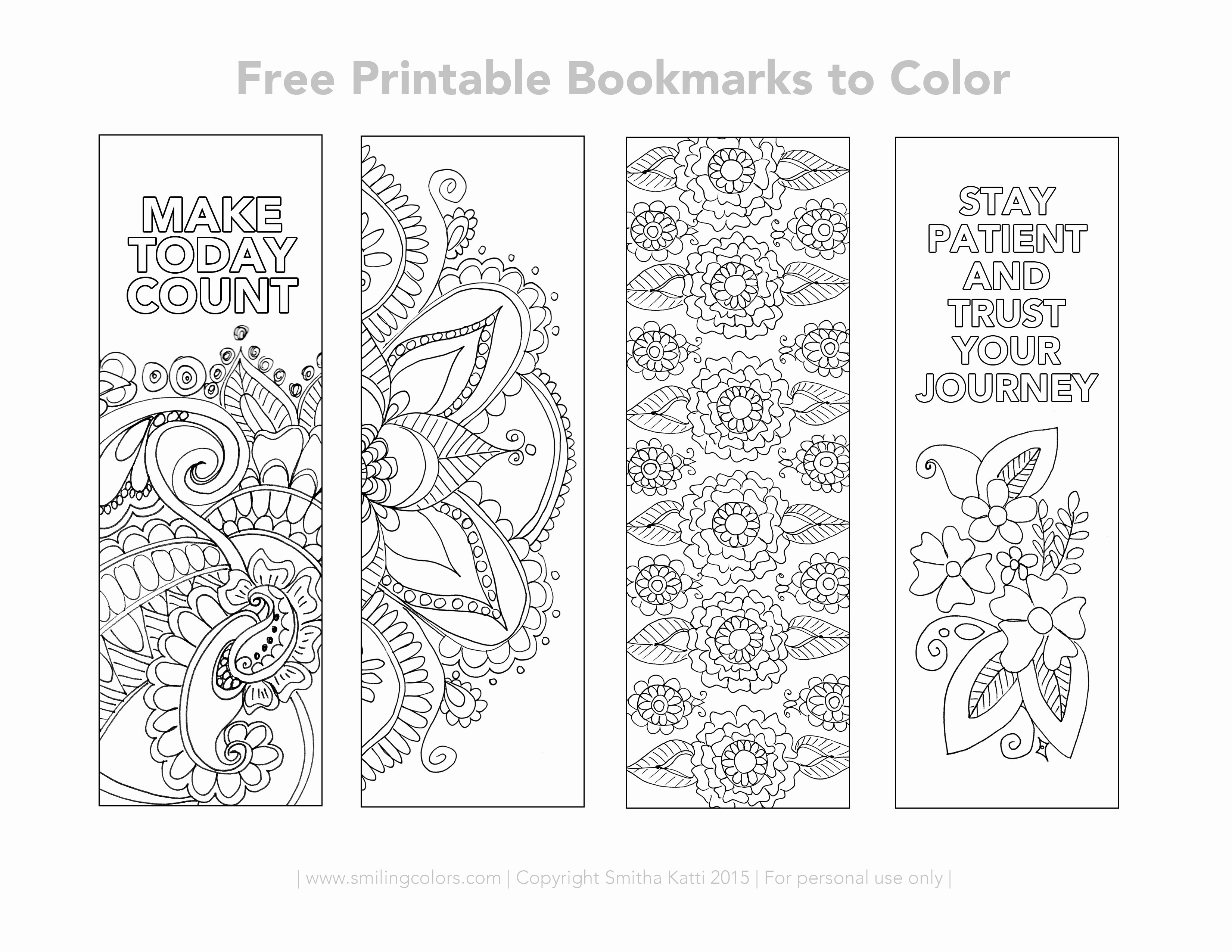 Free Printable Inspirational Bookmarks New Free Printable Bookmarks to Color