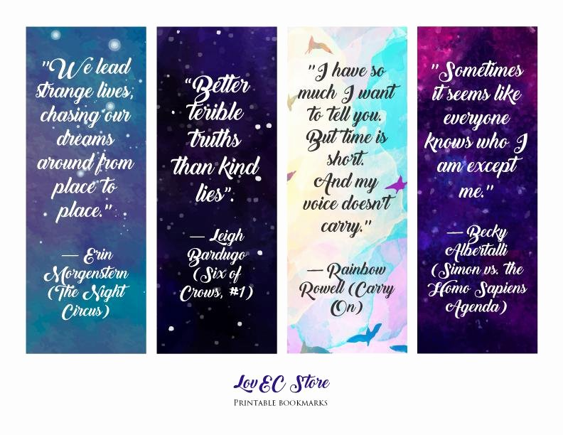 Free Printable Inspirational Bookmarks New Free Printable Bookmarks with Quotes Printable Pages