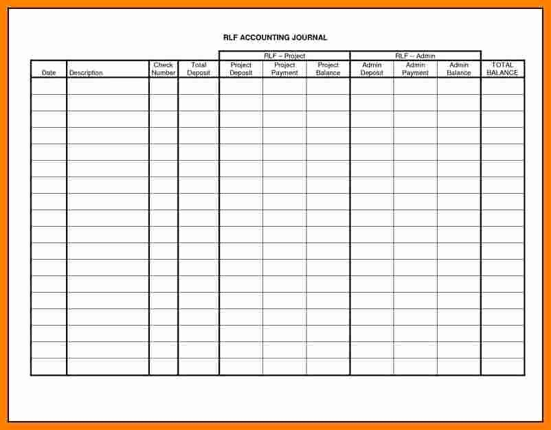 Free Printable Ledger Paper Beautiful 7 Printable Accounting Ledger Paper