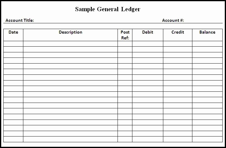 Free Printable Ledger Paper Unique General Ledger Template