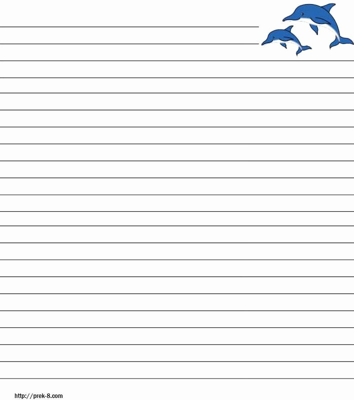 Free Printable Lined Paper Awesome Ocean Animals Free Printable Stationery for Kids Primary