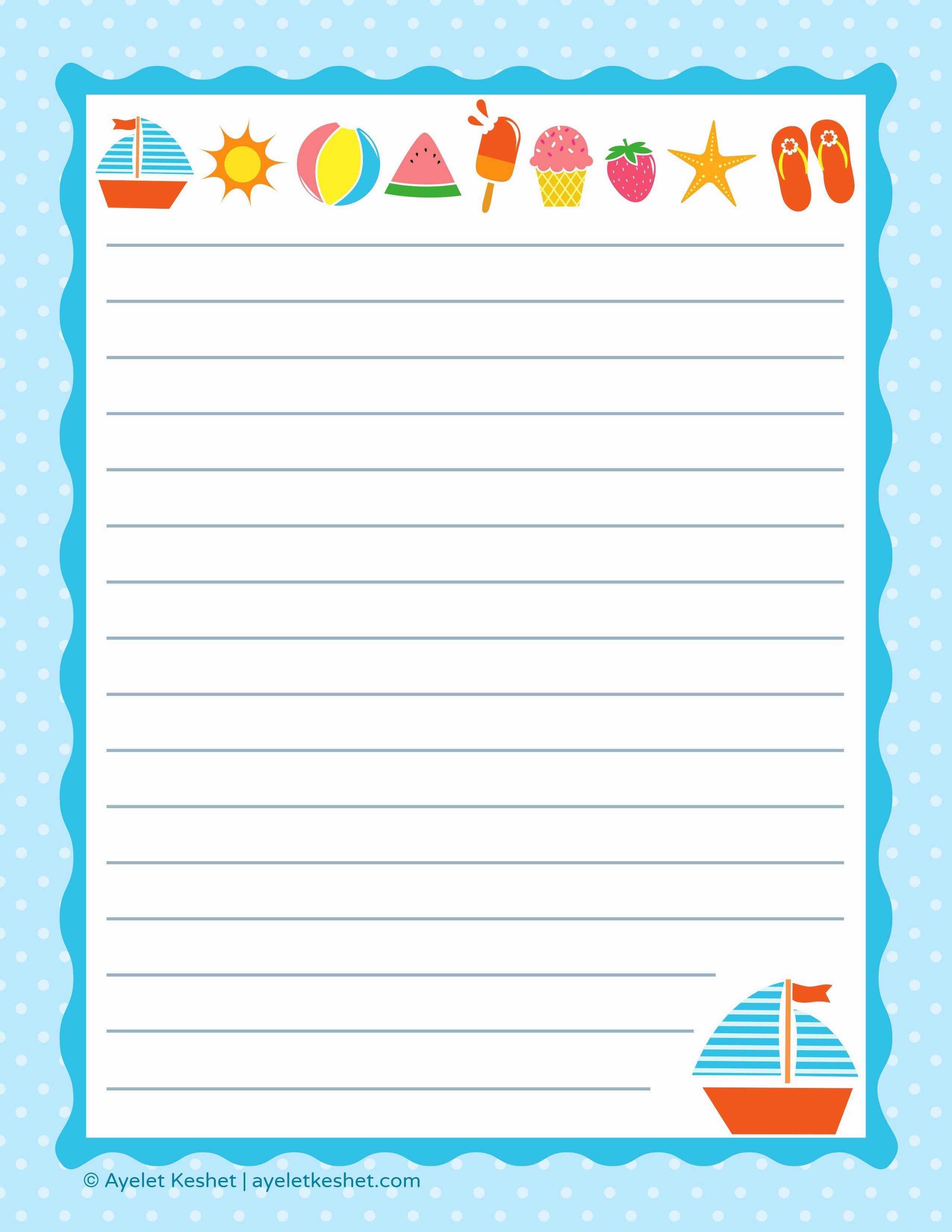 Free Printable Lined Paper Best Of Free Printable Letter Paper Ayelet Keshet