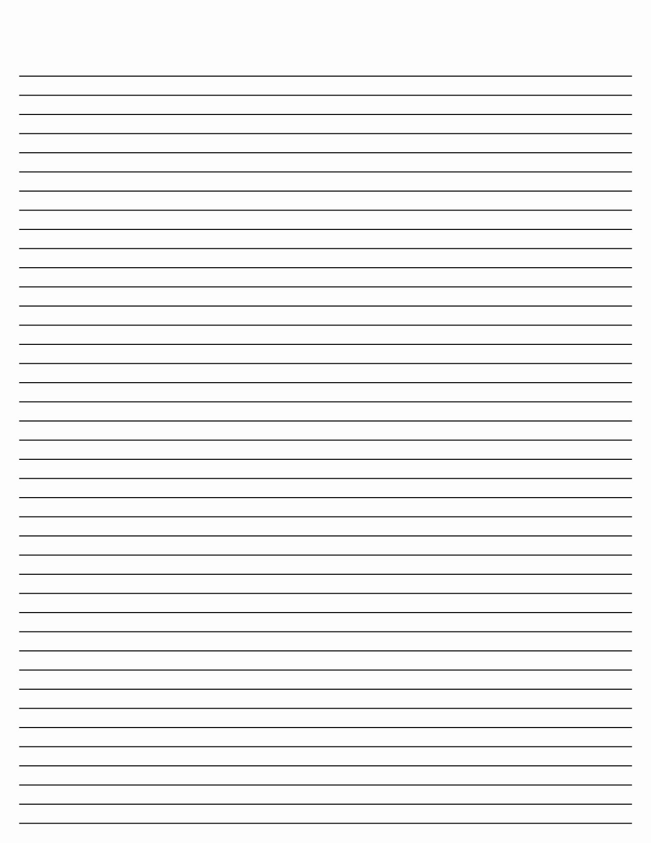 Free Printable Lined Paper New Blank Lined Paper Template