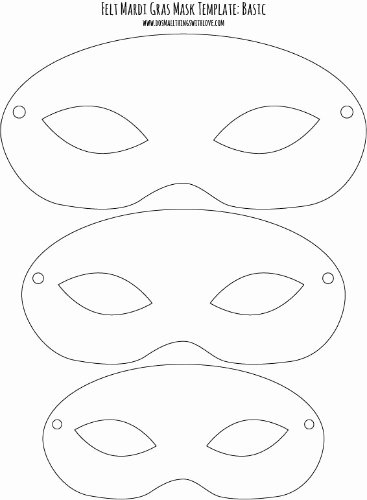 Free Printable Masks Templates Awesome Felt Mardi Gras Masks for Kids Free Printable – Do Small