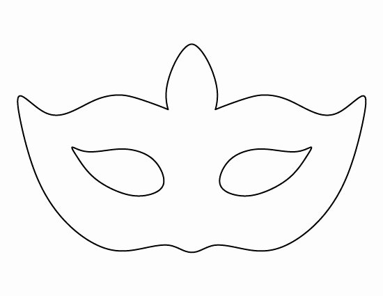 Free Printable Masks Templates Best Of Masquerade Mask Pattern Use the Printable Outline for