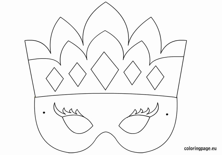 Free Printable Masks Templates Fresh Princess Mask Template Coloring Page S