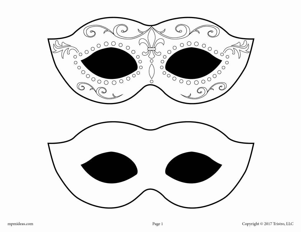 Free Printable Masks Templates Lovely Free Printable Mardi Gras Mask Template – Supplyme