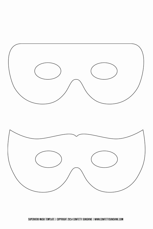 Free Printable Masks Templates Lovely Super Hero Mask Free Template