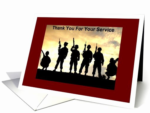 Free Printable Military Greeting Cards Elegant Military Thanks for Service Card