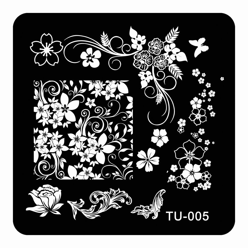 Free Printable Nail Art Stencils Awesome Nail Art Stamp Stamping Image Plate Polish Print Manicure