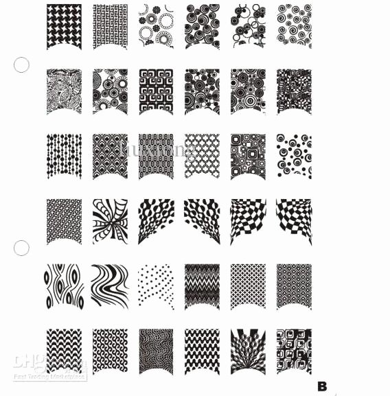 Free Printable Nail Art Stencils Best Of 21cm Xl Size Professional Nail Art Stamping Plate B