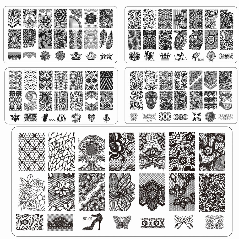 Free Printable Nail Art Stencils Best Of Sweet Trend 1pcs New Flower Lace Print Stencil Nail Art