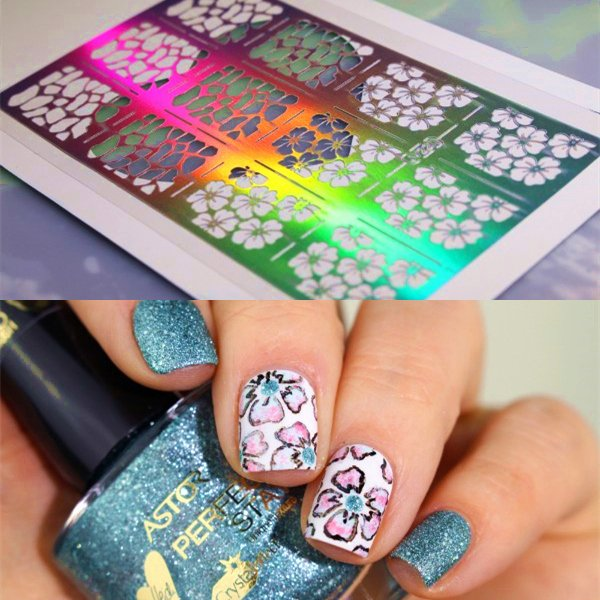 Free Printable Nail Art Stencils Elegant $1 59 12 Tips Sheet Nail Vinyls Flower Print Nail Art