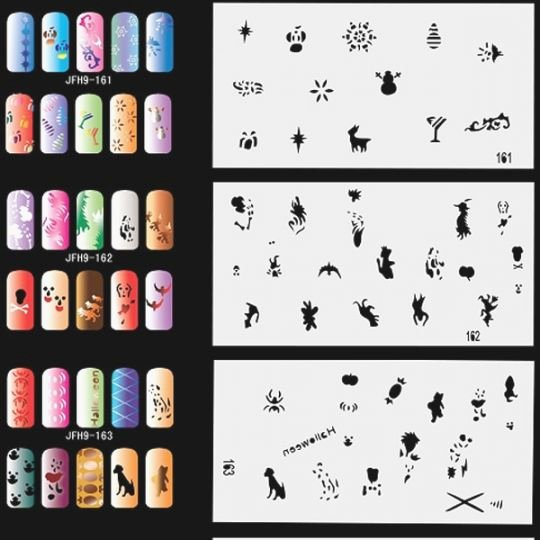 Free Printable Nail Art Stencils Inspirational Tactueux Free Printable Airbrush Stencils