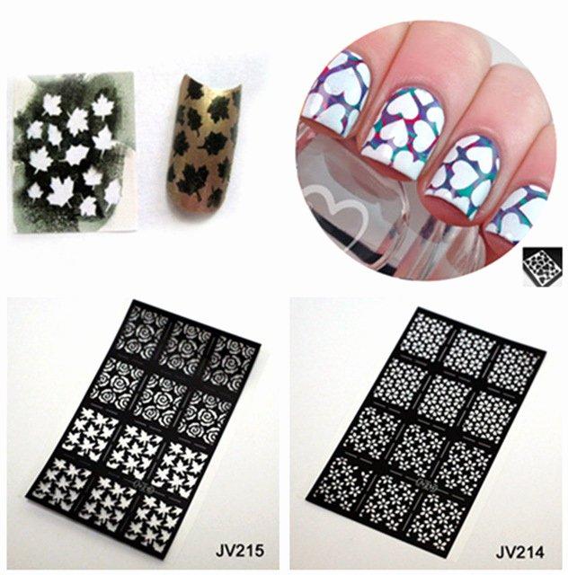 Free Printable Nail Art Stencils New 12pcs Sheet Fall Leaves Nail Stencil Nail Art Vinyl for