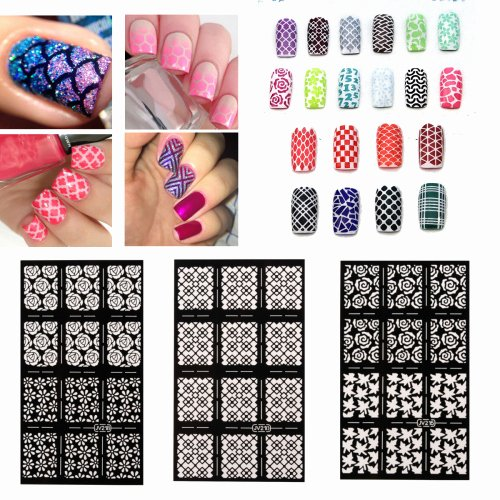Free Printable Nail Art Stencils New Nail Art Stencils Vinyl Hollow Stickers Decal Manicure