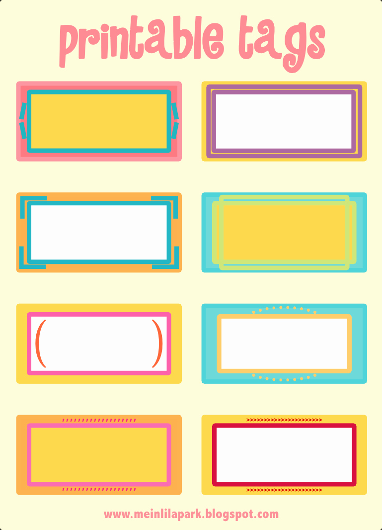 Free Printable Name Cards Beautiful Free Printable Cheerfully Colored Tags – Ausdruckbare