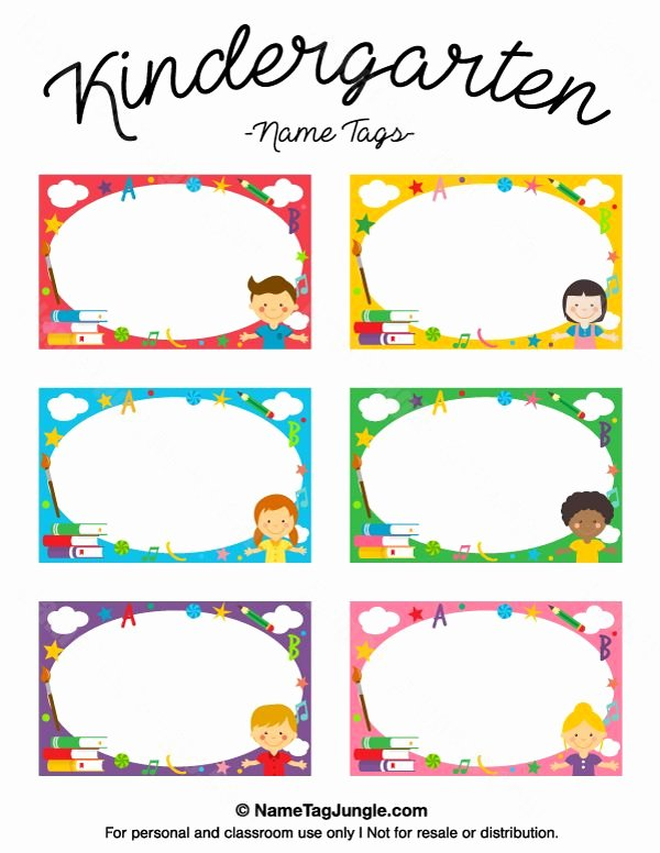 Free Printable Name Cards Fresh Kindergarten Name Tags