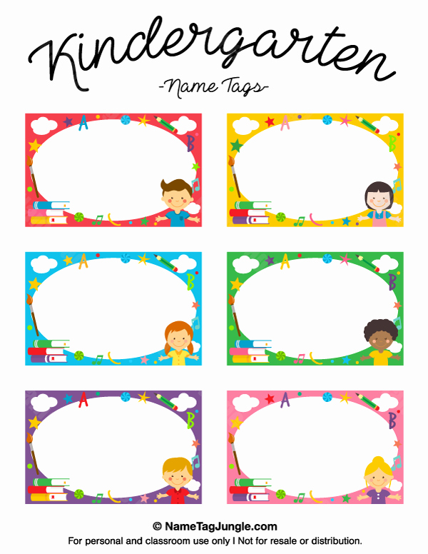 Free Printable Name Cards Inspirational Kindergarten Name Tags