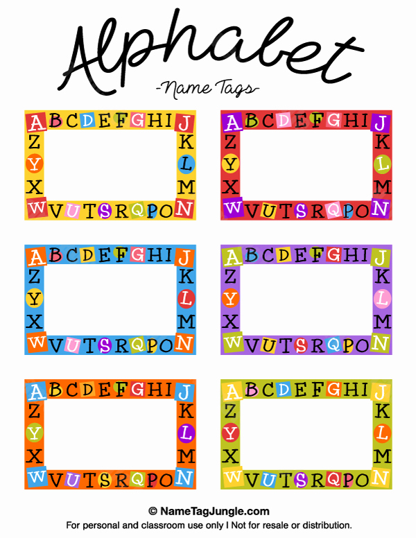 Free Printable Name Cards New Free Printable Alphabet Name Tags the Template Can Also
