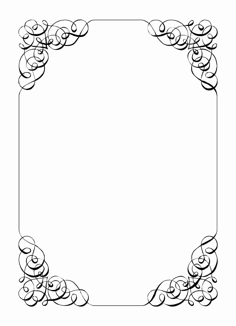 Free Printable Newspaper Template Awesome Free Vintage Clip Art Images Calligraphic Frames and Borders