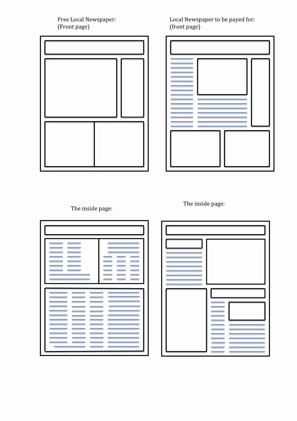 Free Printable Newspaper Template Best Of Blank Newspaper Template
