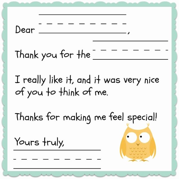 Free Printable Note Cards Template Awesome Thank You Note Template for Kids Free Inner Child Giving