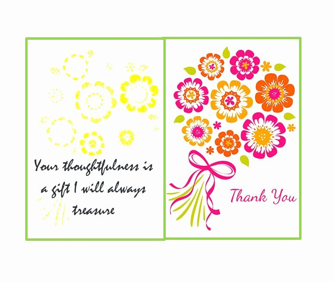 Free Printable Note Cards Template Beautiful 30 Free Printable Thank You Card Templates Wedding