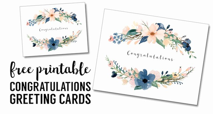 Free Printable Note Cards Template Best Of Congratulations Card Printable Free Printable Greeting