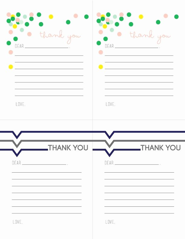 Free Printable Note Cards Template Best Of Printable Thank You Notes for Children today S Creative Life